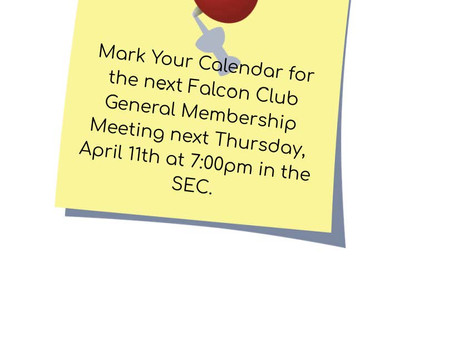 Falcon Club Meeting Reminder