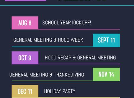 2019 Meeting Dates