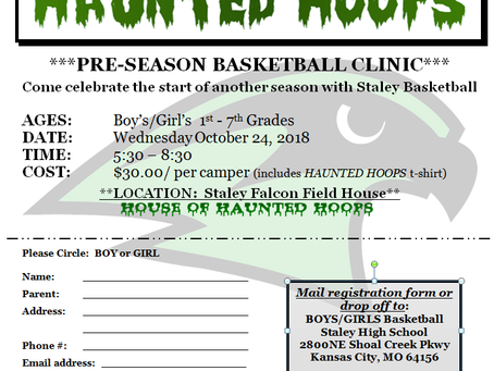 2018 STALEY BOYS/GIRLS BASKETBALL CAMP