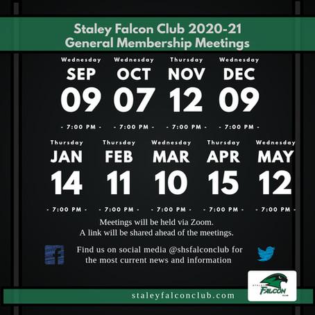 Falcon Club Meetings 2020-2021