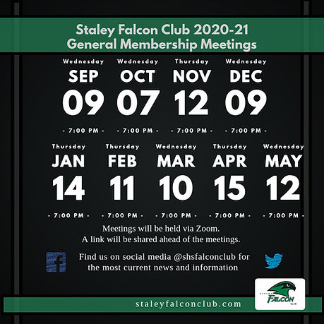 Fall 2020 SFC General Meeting Dates - Ma