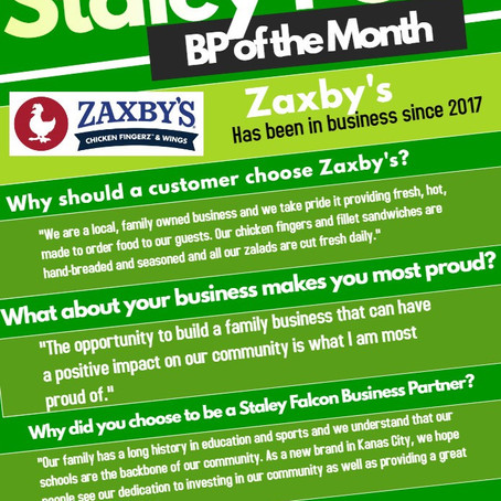 Falcon Club's November Business Partner of the Month