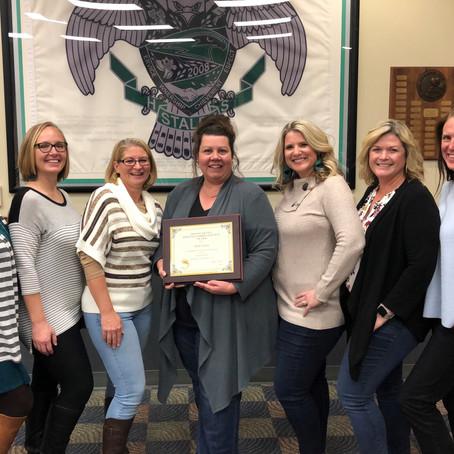 Missouri PTA Distinguished Service Award Recipient, Holly Kaden