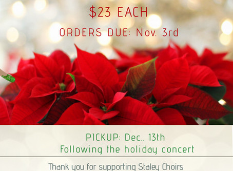 Staley Choirs Are Having a Fundraiser – Holiday Poinsettias