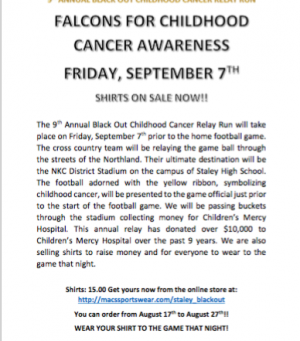 Falcons for Childhood Cancer Awareness