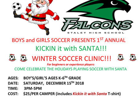 Staley Soccer Clinic is This Saturday 12/15/2018