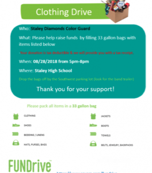 Diamonds Savers Clothing Drive