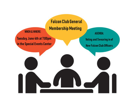 Falcon Club June Meeting For All Members