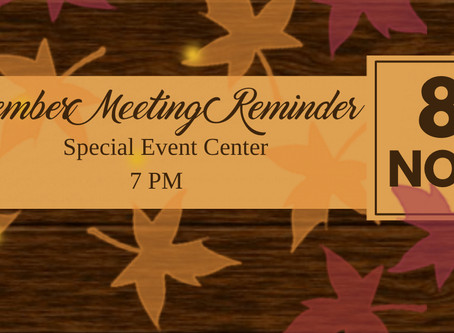 Falcon Club General Membership Meeting Thursday, November 8th @ 7:00pm