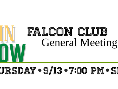 General Membership Meeting – Thursday, 9/13/18 @ 7:00pm