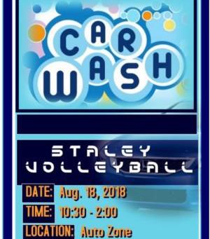 Volleyball Car Wash Fundraiser 8/18/18