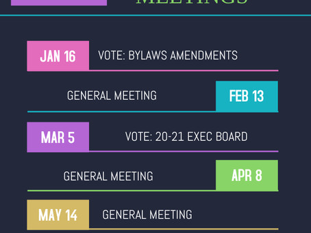 2020 Meeting Dates