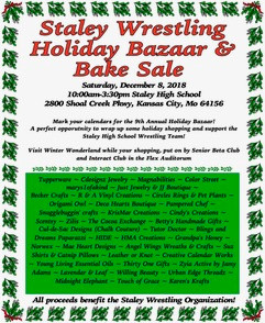 Staley Wrestling Holiday Bazaar and Bake Sale is on December 8th