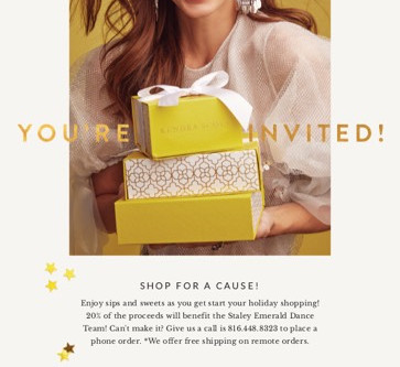 Shop Kendra Scott on Sunday, December 2nd from 1:00pm – 3:00pm and Raise Money for Staley Emer