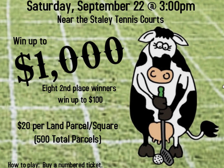 Golf Fundraiser – Cow Pie Bingo Is Back