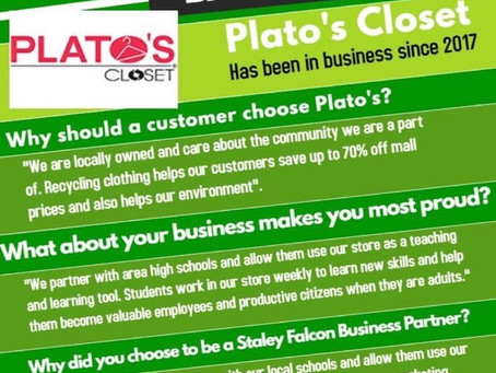 Plato's Closet is Staley Falcon Club's January Business Partner of the Month