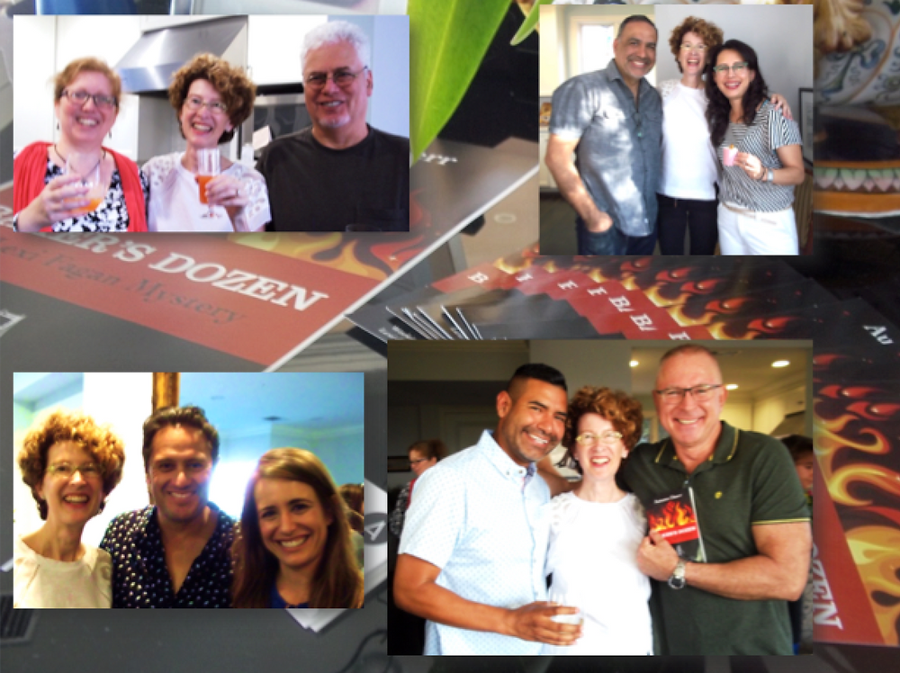 Los Angeles Book Party, mystery book, book launch, Baker's Dozen