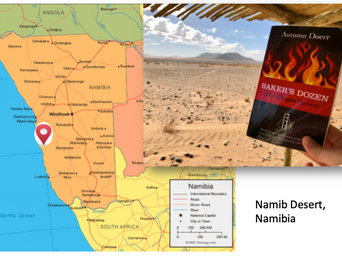 Lexi in Namibia! Mystery Author Autumn Doerr First Book Travels the World