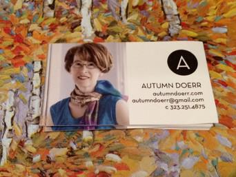 Author Autumn Doerr Business Card Survey