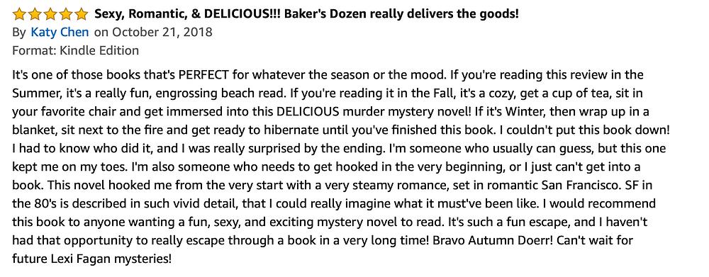 Baker's Dozen Book Review