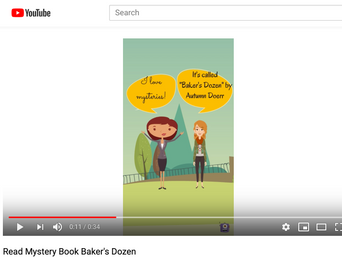 Mystery Author Autumn Doerr Second Youtube Video using Animaker