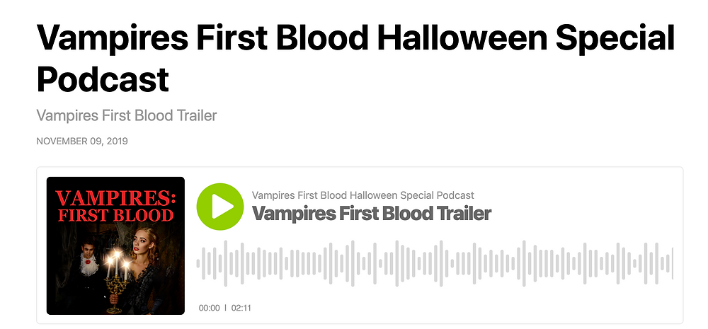 Vampires First Blood Special Podcast Trailer