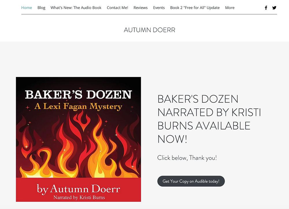 Baker's Dozen, Mystery Author, Website