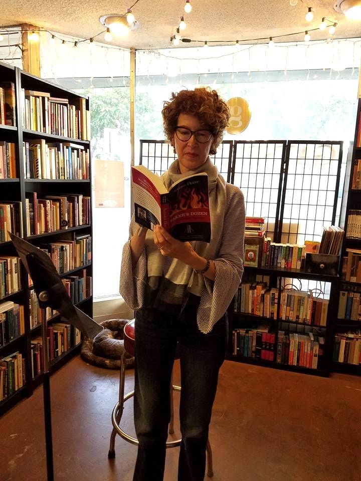 Autumn Doerr reading at Gatsby Books in Long Beach