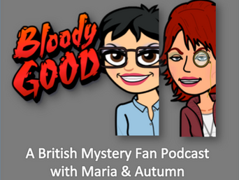 An Early Logo Idea for Mystery Fan Podcast Bloody Good!