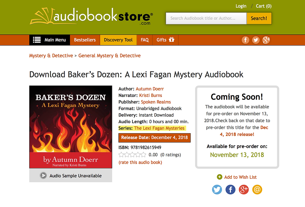 audio book audiobookstore.com Baker's Dozen Available