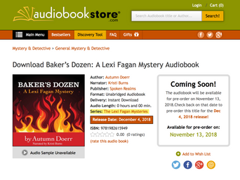 "First Drop of ""Baker's Dozen"" available as Pre-Order At Audiobookstore.com"