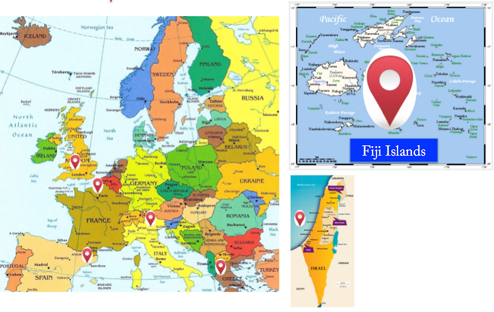 Fiji, Europe, Israel, Vacations with Books, Marketing your book