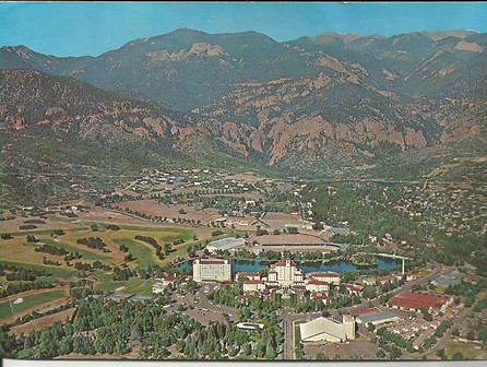 The Broadmoor from a vintage postcard.