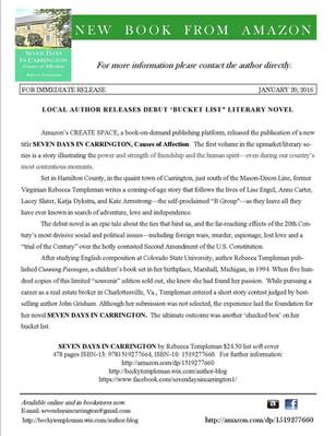 Press Release, Debut Novel