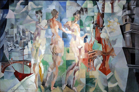Delaunay ville de paris copie reproduction toile echo