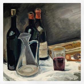 Nature morte au verre de vin , Friesz