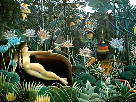 Rousseau reve copie reproduction toile