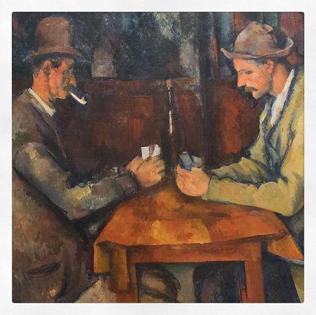 Joueurs de cartes paul cezanne copie reproduction toile