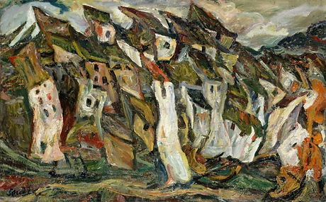soutine maisons copie reproduction toile