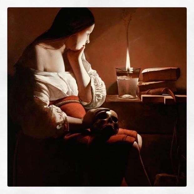 La Madeleine à la flamme filante, La Tour