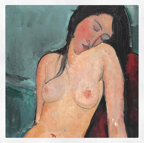 Nu assis, Modigliani