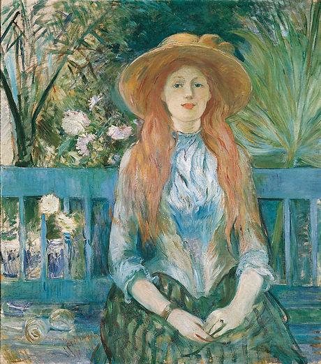 copie-peinture-Morisot_Jeune_fille_dans_un_parc_