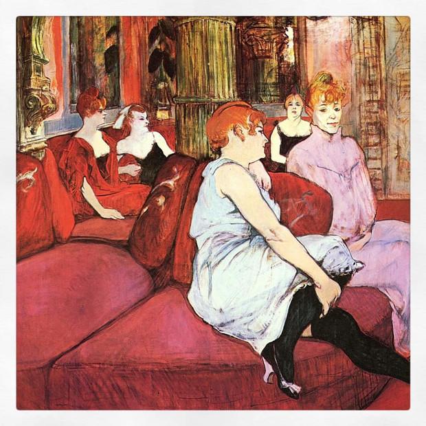 Au salon de la rue des Moulins, Toulouse-Lautrec