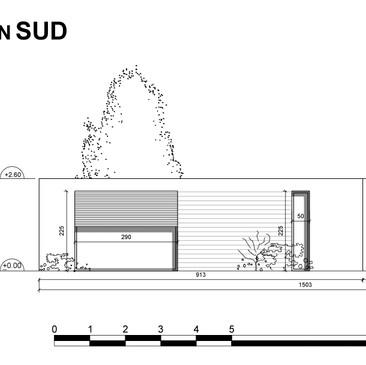 contain'home; façade sud.