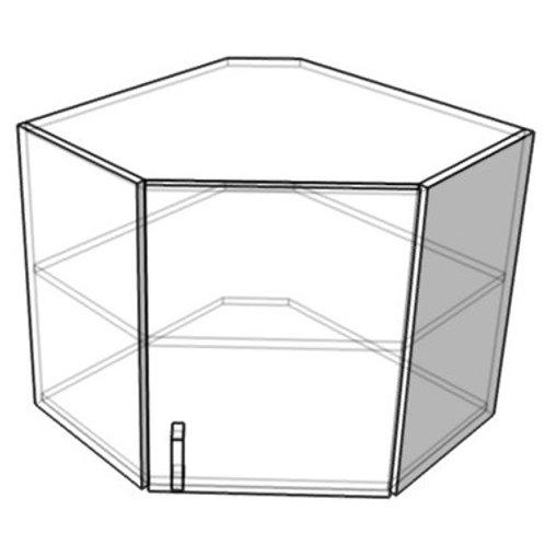 Шкаф навесной-угловой