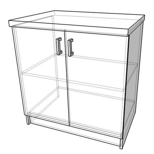 Стол-тумба без ящика (ш800г600в850)