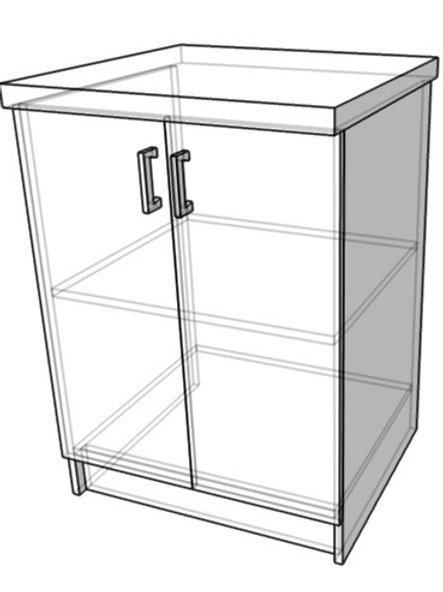 Стол-тумба без ящика (ш600г600в850)