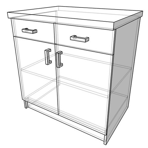 Стол-тумба с ящиком (ш800г600в850)