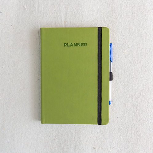 Fern Green PU Dateless Planner