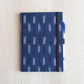 A5 Ikat Blue Stripes HB_Unruled-1.jpg